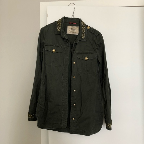 super cheap cheap special promotion Zara WOMENS French Worker Jacket with Embroidery